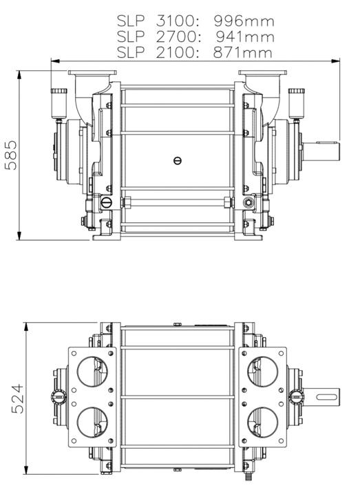 SLP pump dimensions